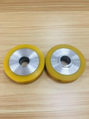 黄色PU包胶轮
